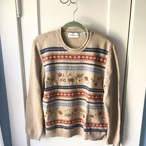 Vintage Alfred Dunner cottage core floral sweater